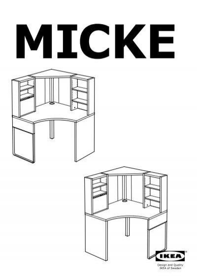 Bureau D Angle Ikea : bureau, angle, MICKE, Poste, Travail, D'angle, 50250713, Plan(s), Montage