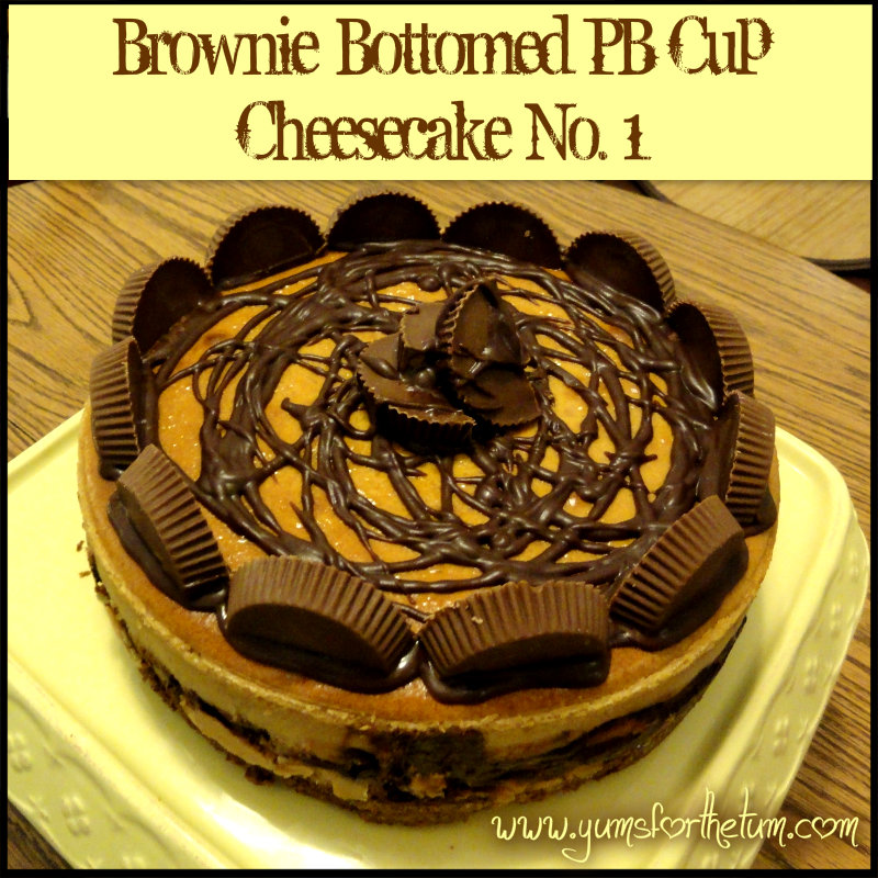 Brownie-Bottomed Peanut Butter Cup Cheesecake (Version 1)