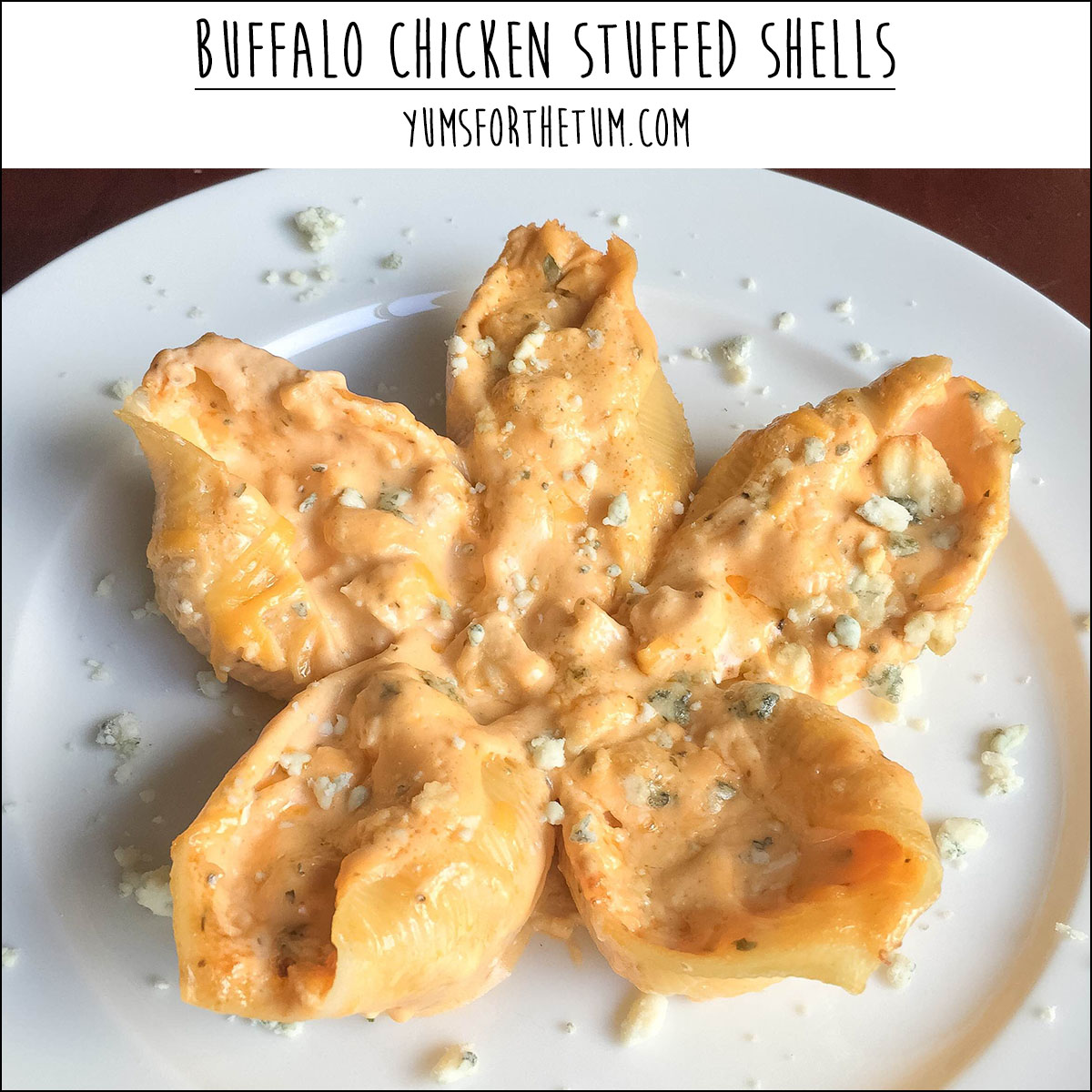 Buffalo Chicken Stuffed Shells