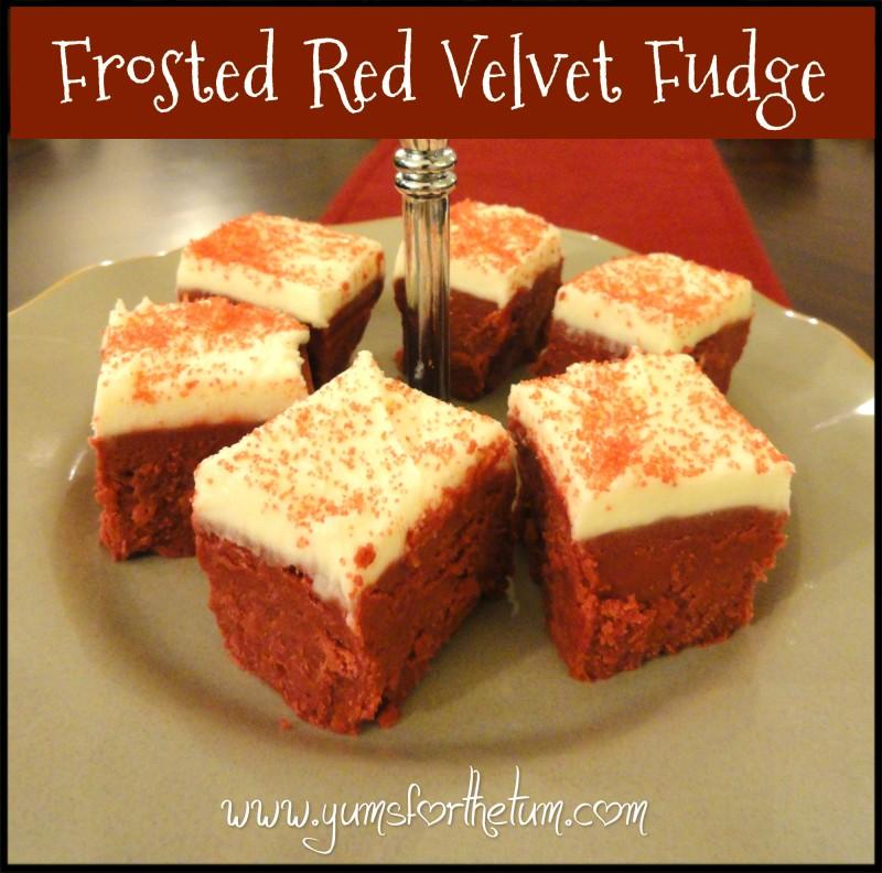 Frosted Red Velvet Fudge