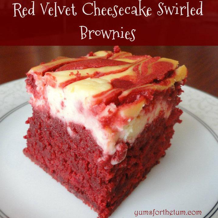 Red Velvet Cheesecake Swirled Brownies