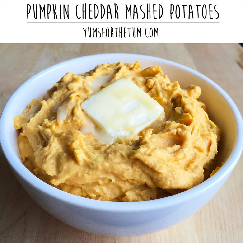 Pumpkin Cheddar Mashed Potatoes