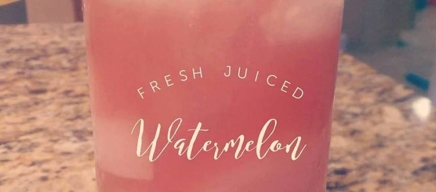 All Natural Paleo Watermelon Splash Cocktail Recipe