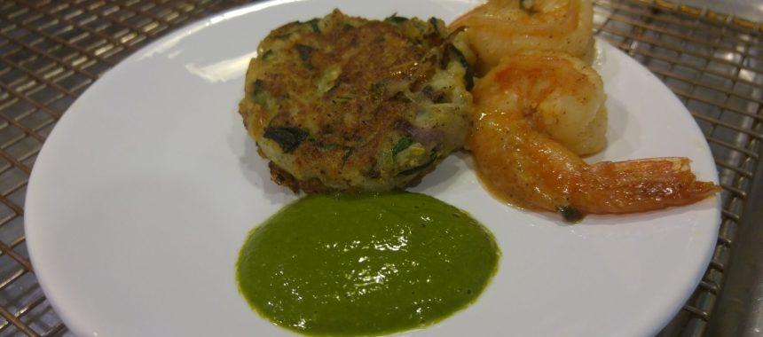 Facebook Live: Paleo Zucchini Fritters, Lemon Basil Oil and Cilantro Lime Shrimp