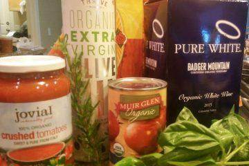 Ingredients for Lasagna recipe