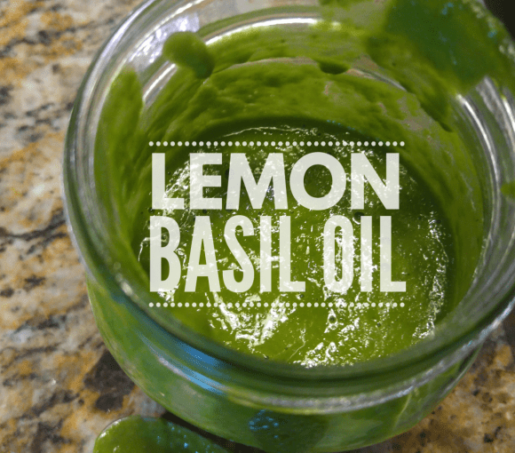 Lemon Basil Oil