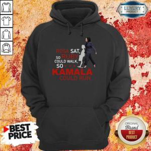 Kamala Harris Rosa Sat Ruby Walk First Female Vice President Hoodie