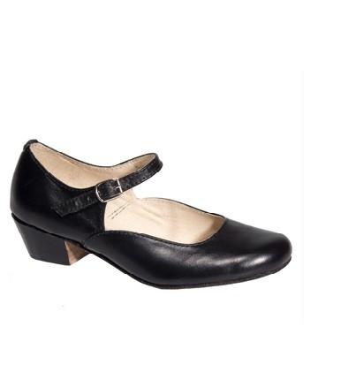 Туфли народно-характерные женские чёрные - 36