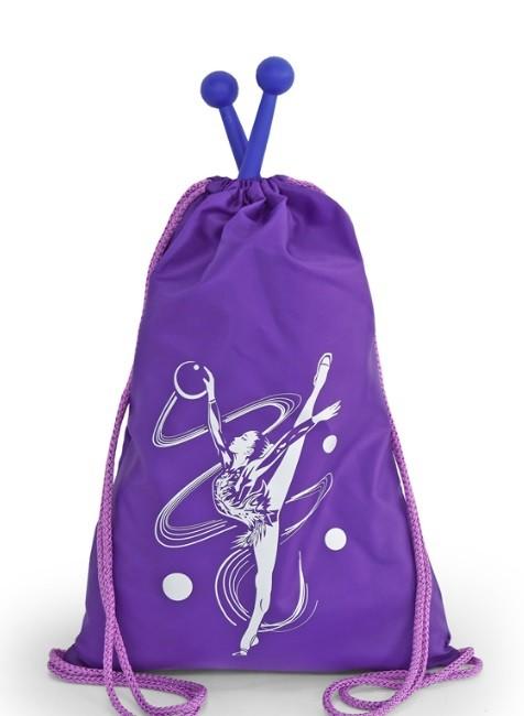 Рюкзак-мешок с гимнасткой однотонный - Красный