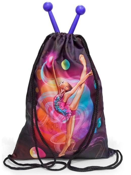 Рюкзак-мешок с гимнасткой цветной