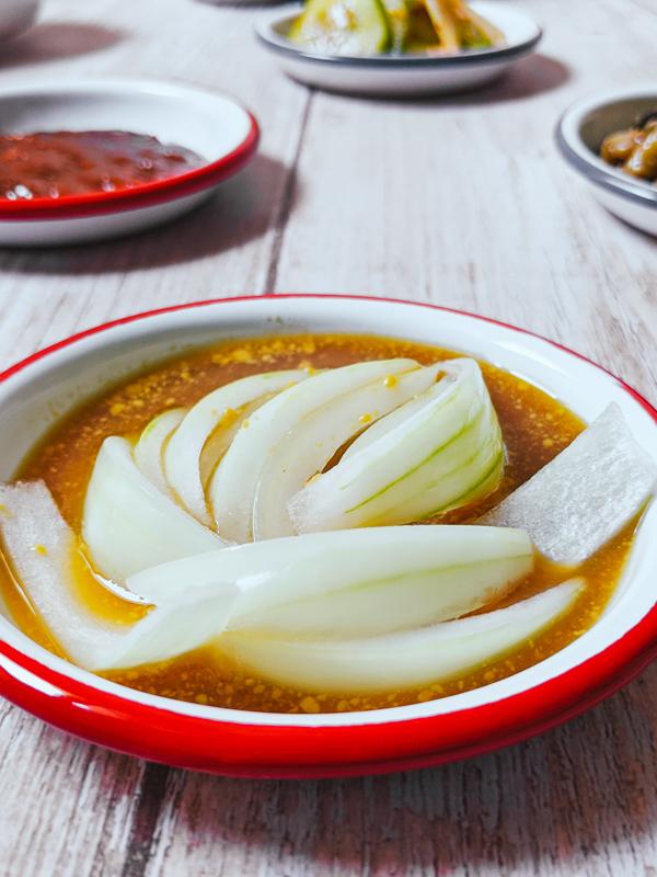 oignon mariné pour barbecue coréen
