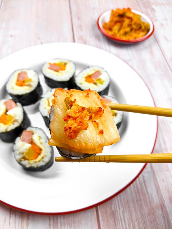Kimbap, la variante coréenne des sushis