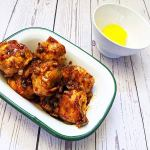 Kanpungi mandu, les mandus frits à la sauce aigre douce