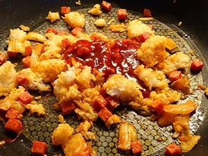 kimchi fried rice etape 6