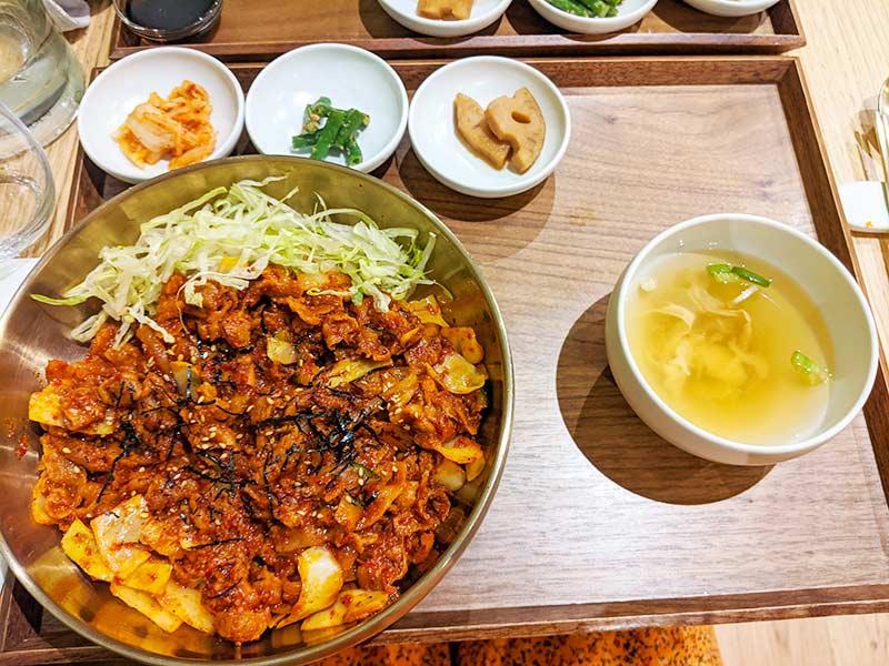 repas de sinabro, restaurant coréen de lyon
