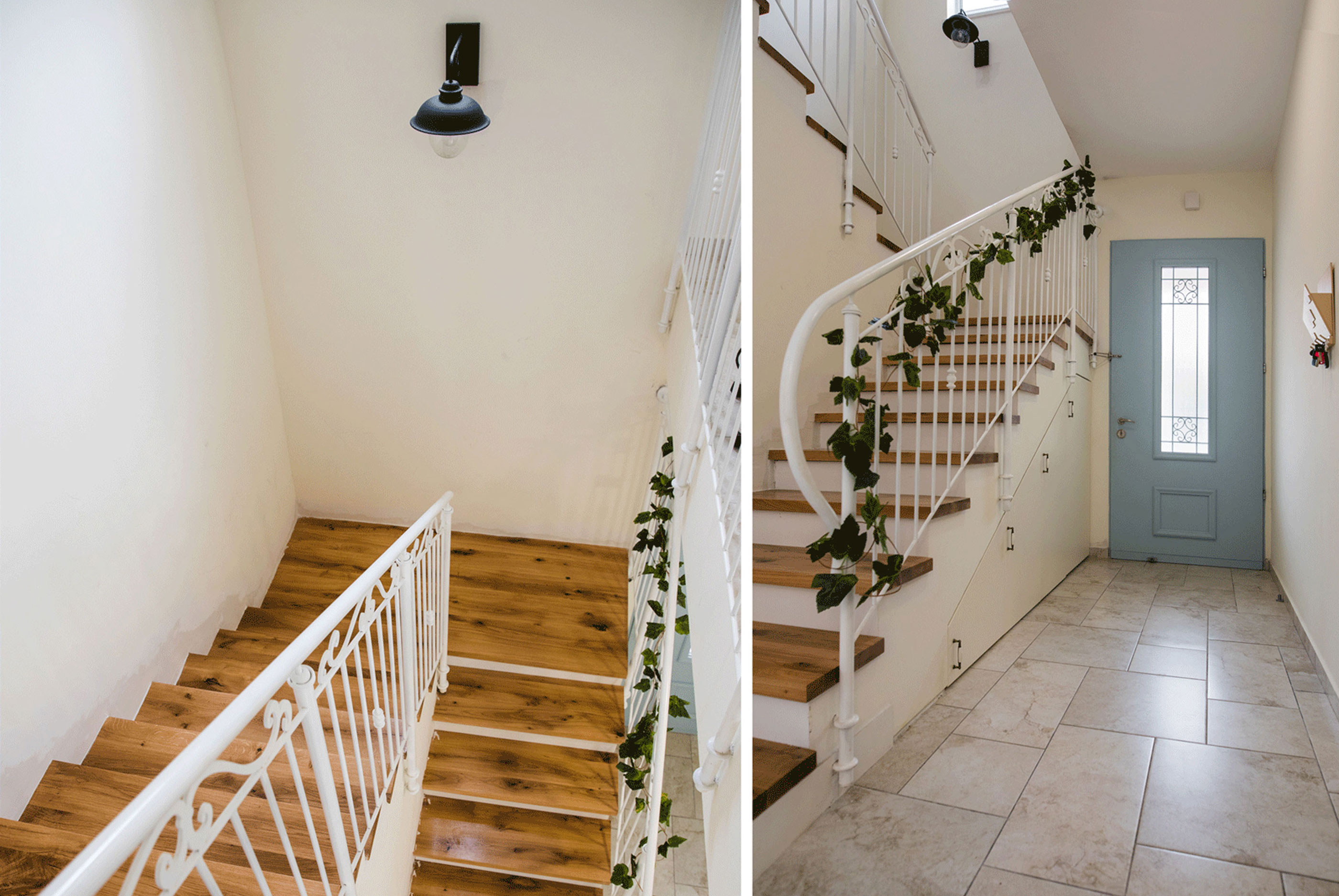 Pricate home modern wooden staircase design