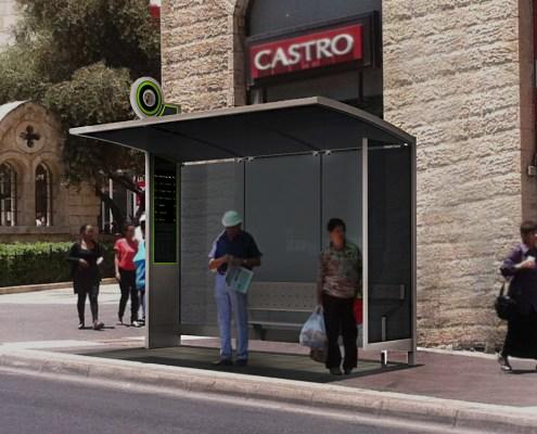 עיצוב תחנת אוטובוס עירונית