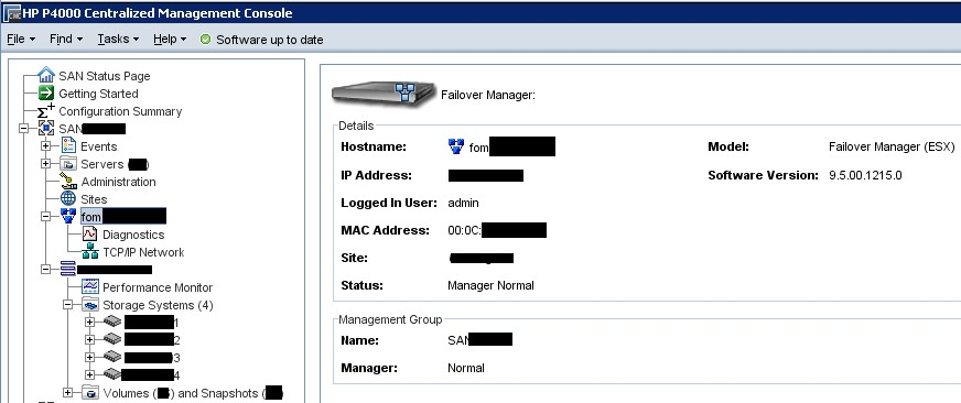 Install the HP Lefthand P4000/P4500 Failover Manager to prepare for disaster (2/2)