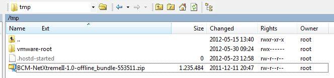 Install new Broadcom bnx2/bnx2x/bnx2i/cnic drivers on your ESXi 5.0 hosts (2/3)