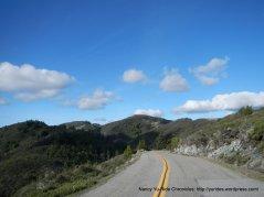 descend Bolinas Fairfax Rd to Alpine Lake