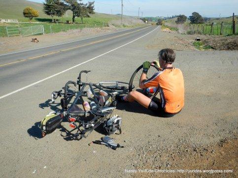 stop for flat & rim repair