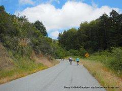 riding along Tunitas Creek Open Space Preserve