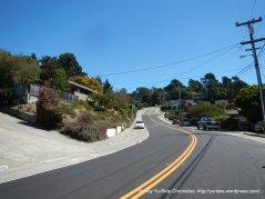 steep climb up Arlington Blvd