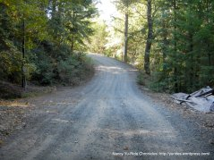 gravel side road