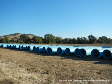 field of pipes