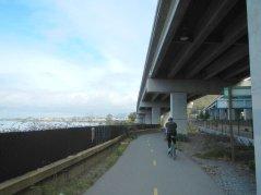 on SF Bay Trail-under I-580