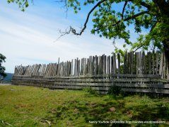 old wooden fence line