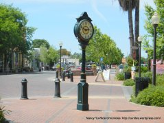 Winters town clock on Main