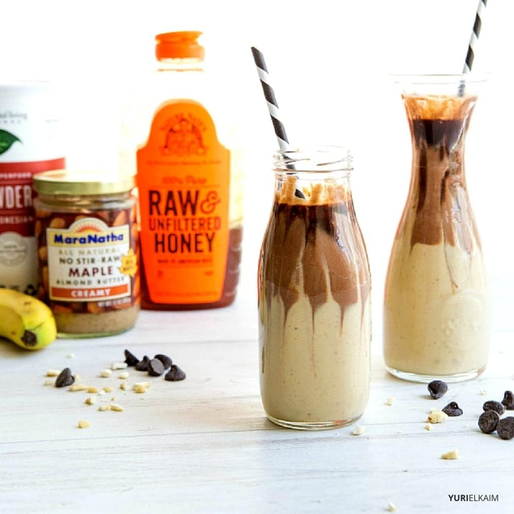 Almond Butter Cup Vegan Protein Smoothie
