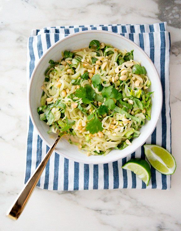 Cucumber Noodles With Peanut Sauce - A House in the Hills