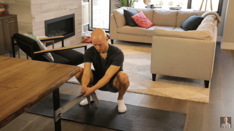 Deep Squat Position with Aid