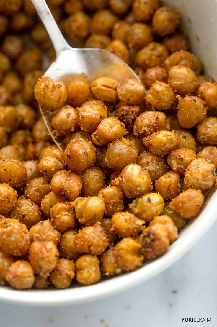 Spicy Garlic Oven-Roasted Chickpeas Recipe