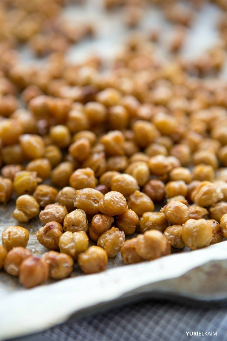 Spicy Garlic Oven-Roasted Chickpeas - Step 3
