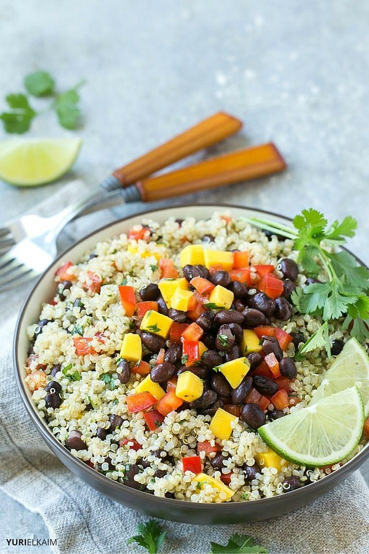 Easy Mango, Quinoa and Black Bean Salad | Yuri Elkaim
