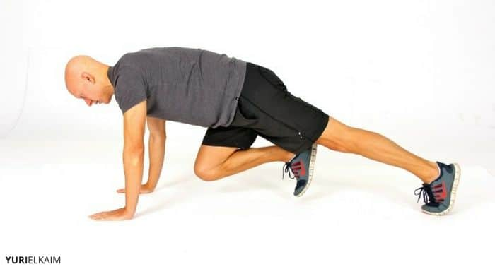 Man performing Mountain Climbers