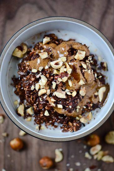 Chocolate Hazelnut Overnight Oats via Scaling Back