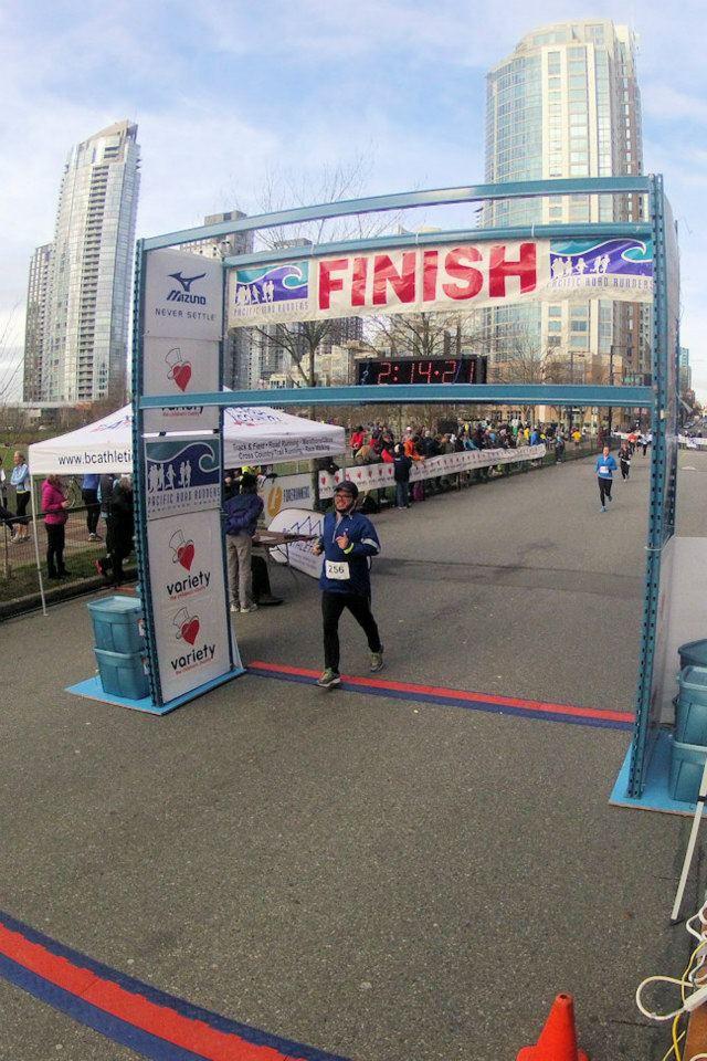 Yuri finishing the 24th First Half ½ Marathon