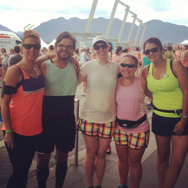 Yuri and his original running group before the 2013 SeaWheeze Half Marathon