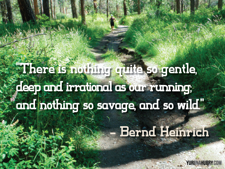 Inspiration: Running — Gentle, Deep, Irrational, Savage & Wild