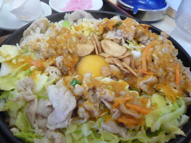 鉄板麺(玉子)