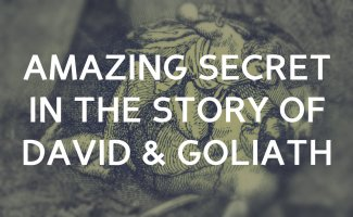 There is an amazing secret in the story of David & Goliath!