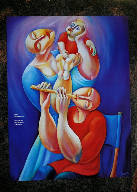 """Adoration with Flute"" Poster"