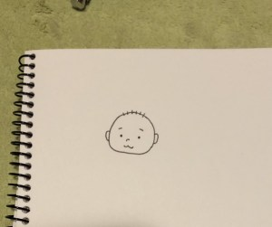 紙に描いた線画