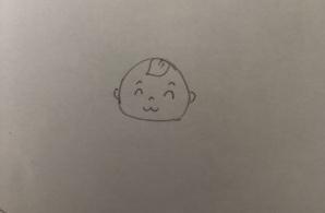 紙に描いたイラスト