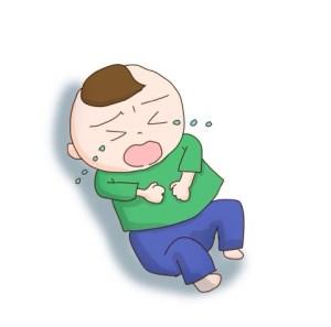 腹痛を訴える息子