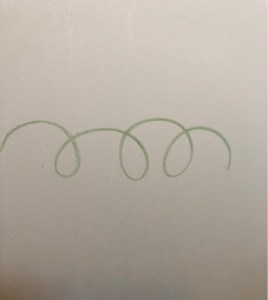 お風呂でお絵描きが出来るクレヨンで壁に絵を描いた様子